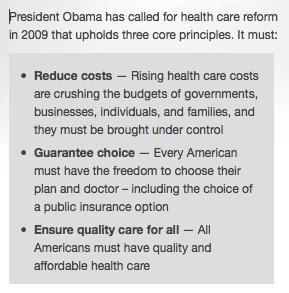 Three Principals for Healthcare Reform