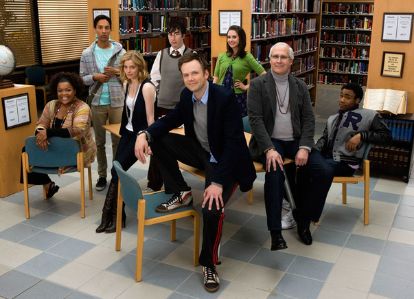 Community Staring Joel McHale and Chevy Chase