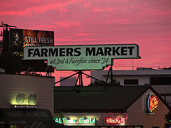 LA Farmers Market at Sunset
