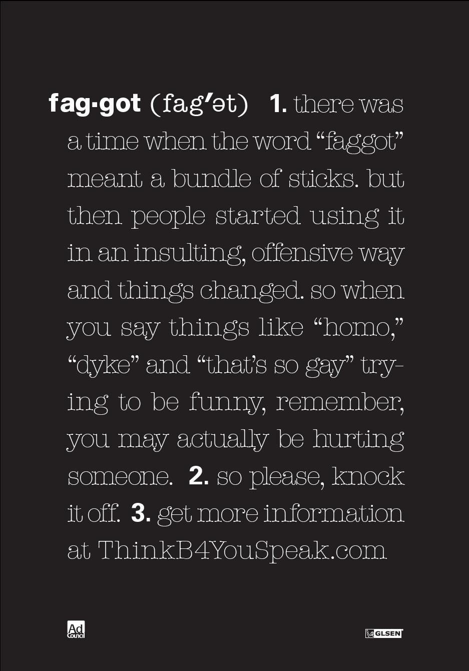 Faggot Definition