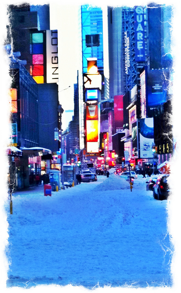Time Square After Blizzard