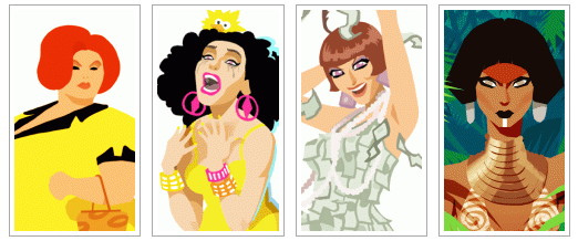 Fierce Artist Chad Sell Creates Amazing Prints of Drag Race Queens