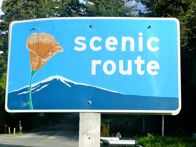 Scenic Route Sign