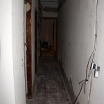 This is the hallway, leading to the bedroom.